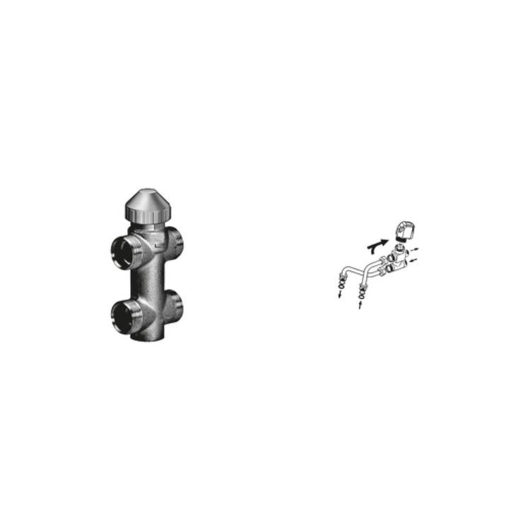 Sabiana Valvola a 3 vie ON-OFF + kit collegamento semplificato montata (modello 02-12-22-32) 9079530W