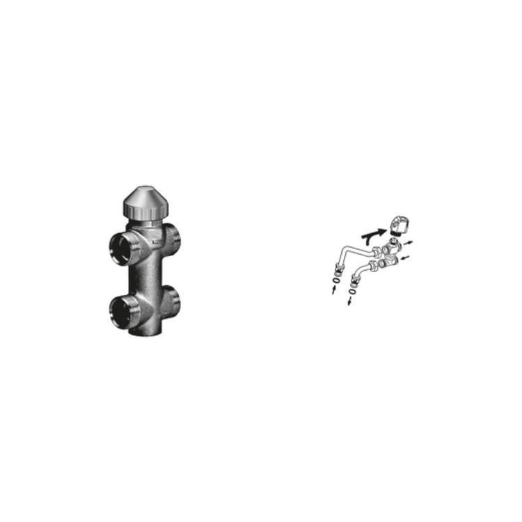 Sabiana Valvola a 3 vie ON-OFF + kit collegamento semplificato montata (modello 44-54-56-64-66) 9079533W