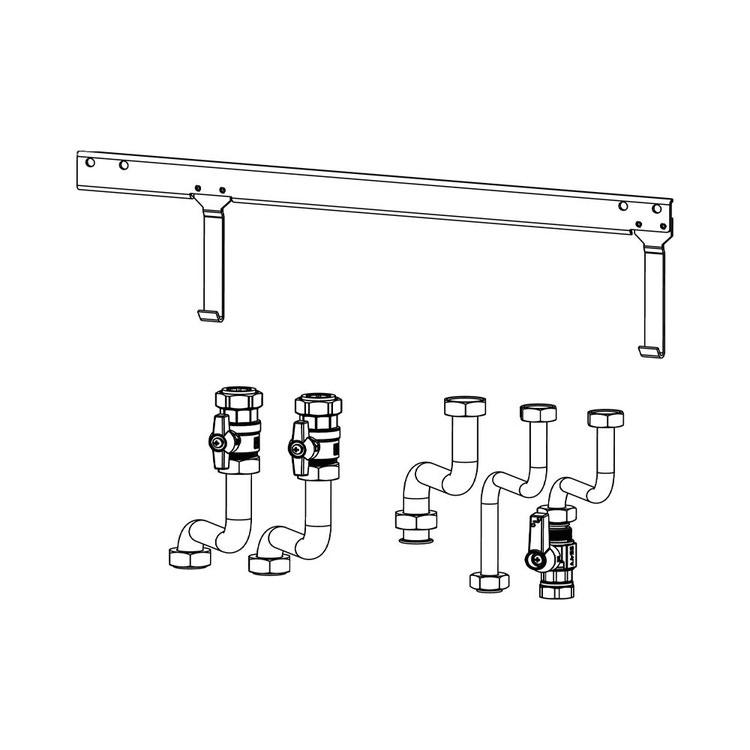 Beretta Kit raccordi per installazione da incasso per caldaie combinate  20134477