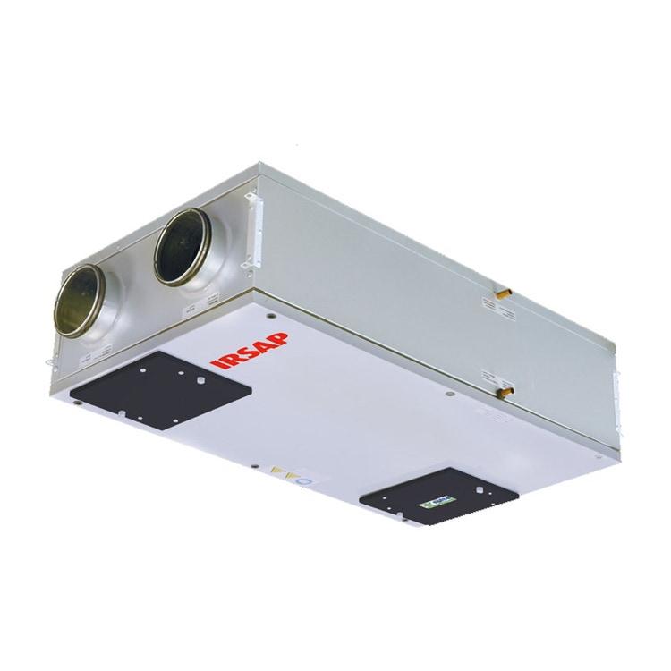 Irsap IRSAIR H 150 E Unità di ventilazione a doppio flusso con recupero di calore con controllo remoto Touch Screen, posizionamento orizzontale URED015HRE000
