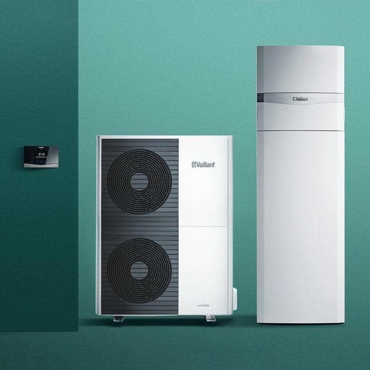 Vaillant aroTHERM split VWL 125/5 AS 400V S3 Pompa di calore aria/acqua trifase + uniTOWER split VWL 128/5 IS Modulo a basamento 0010038594