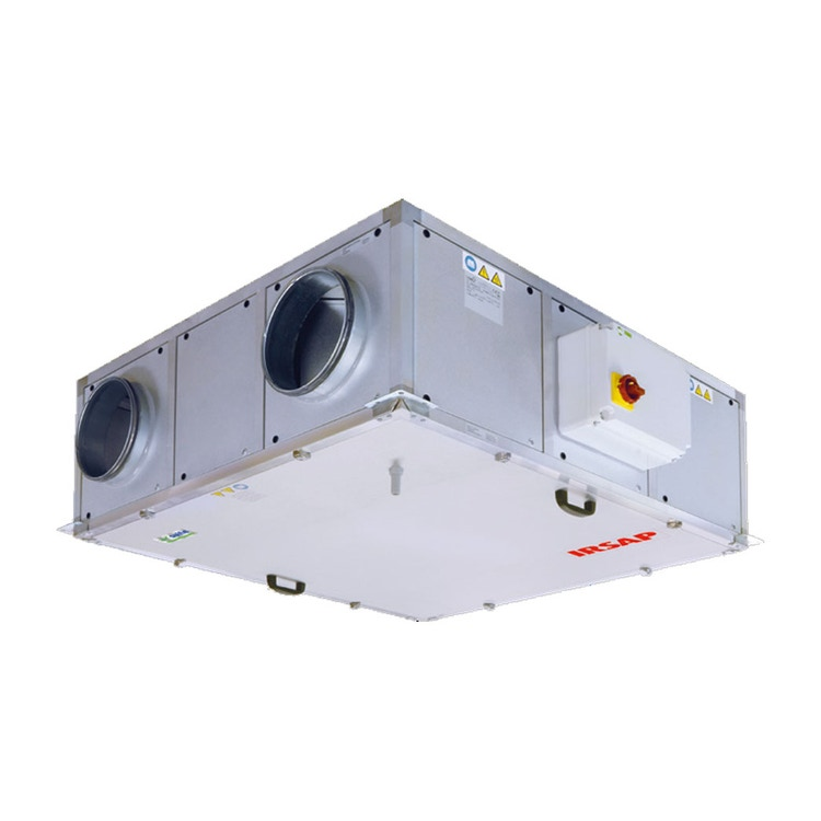 Irsap IRSAIR H 850 E Unità di ventilazione a doppio flusso con recupero di calore con controllo remoto Touch Screen, posizionamento orizzontale URED085HRE000