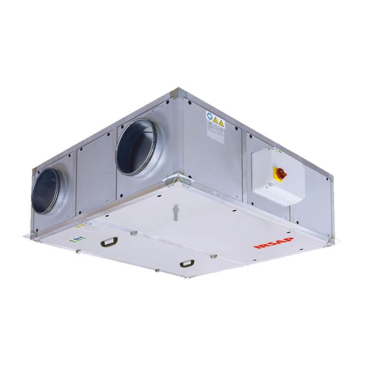 Irsap IRSAIR H 1200 E Unità di ventilazione a doppio flusso con recupero di calore con controllo remoto Touch Screen, posizionamento orizzontale URED120HRE000