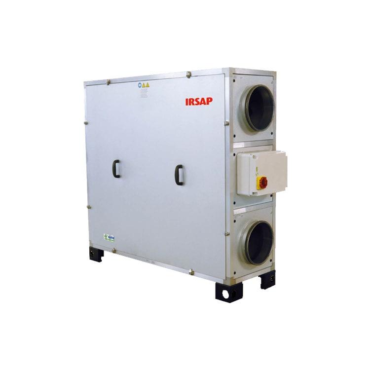 Irsap IRSAIR V 850 E Unità di ventilazione a doppio flusso con recupero di calore con controllo remoto Touch Screen, posizionamento verticale URED085VRE000