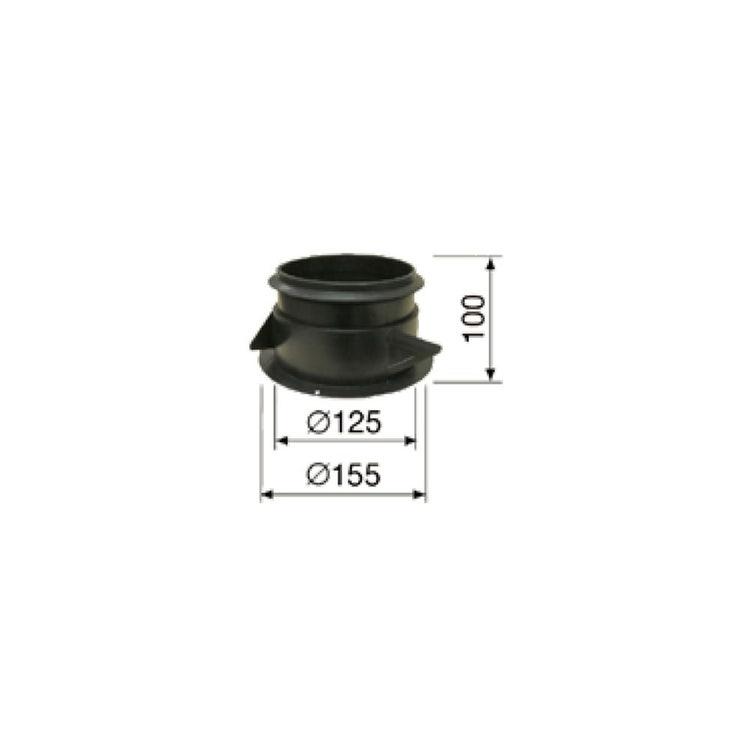 Irsap Manichetta in plastica DN80 per bocchette con alette di ritenuta per pareti in cartongesso e muratura APLMAN0008000
