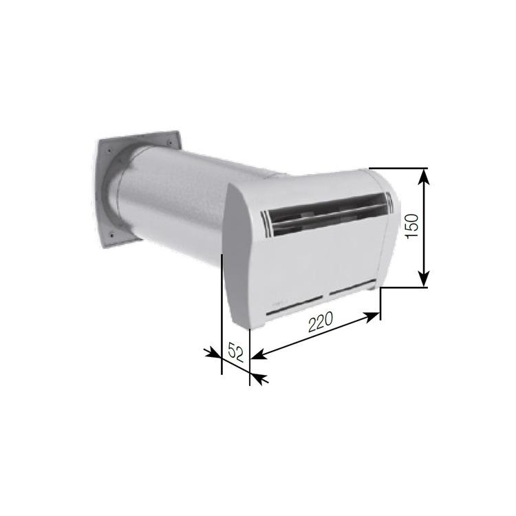 Irsap SILEM IGRO Kit ingresso aria igroregolabile con attenuazione acustica, portata 6/45 m³/h TPLBOC0045IK0