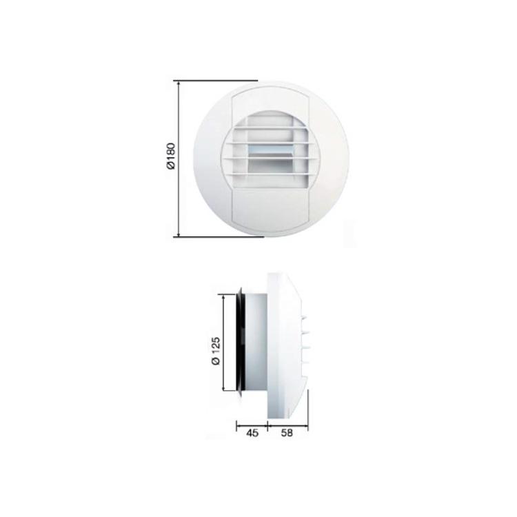 Irsap BEH 15/100 Bocchetta di estrazione igroregolabile per regolazione delle portate di estrazione in funzione dell'umidità relativa interna TPLBOC0100IE0