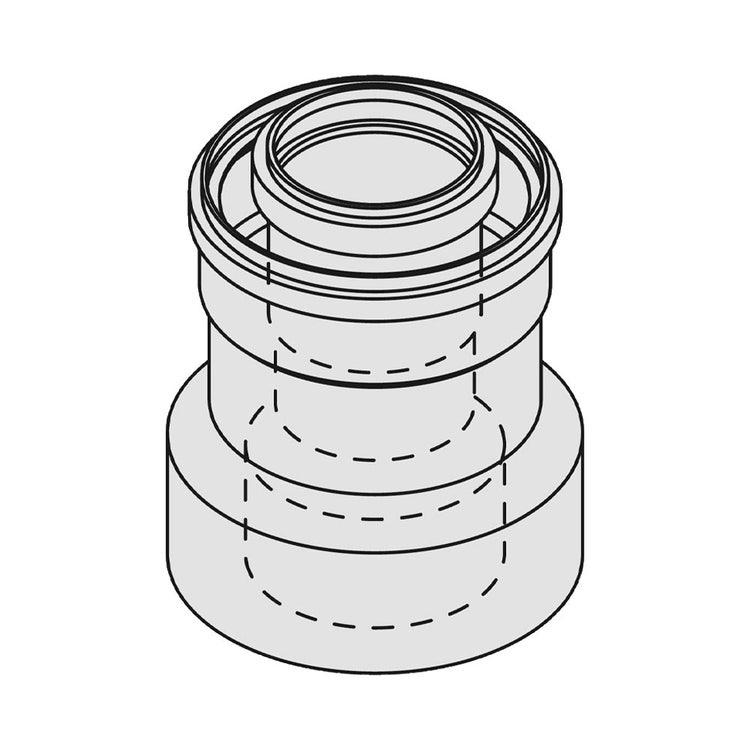 Bosch FC-CO60 Riduzione concentrica PP rig. da Ø 80/125 a Ø 60/100, lunghezza 150 mm 7738112733