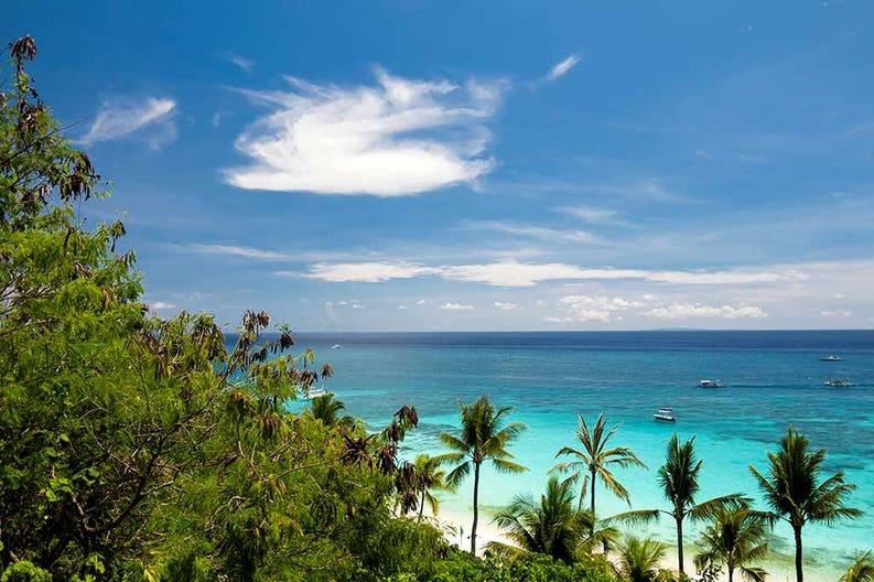 Marine landscape at the Bahamas