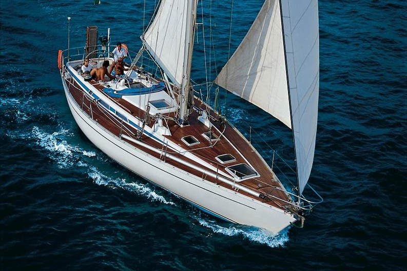 Sailing boat Grand Soleil Penne Bianche on navigatio