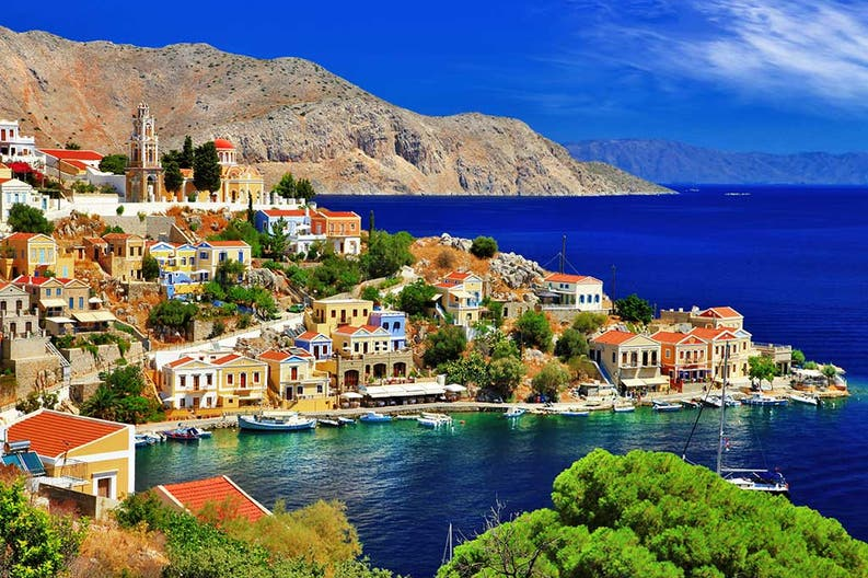 The town of Symi in Greece