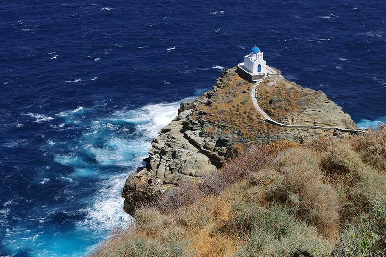 View of the island of Sifnos in Greece