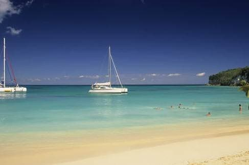 Beach of Saint Francois in Guadeloupe