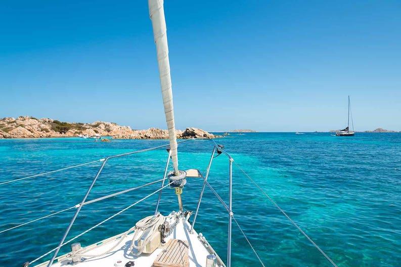 Sailboat in Sardinia in Italy