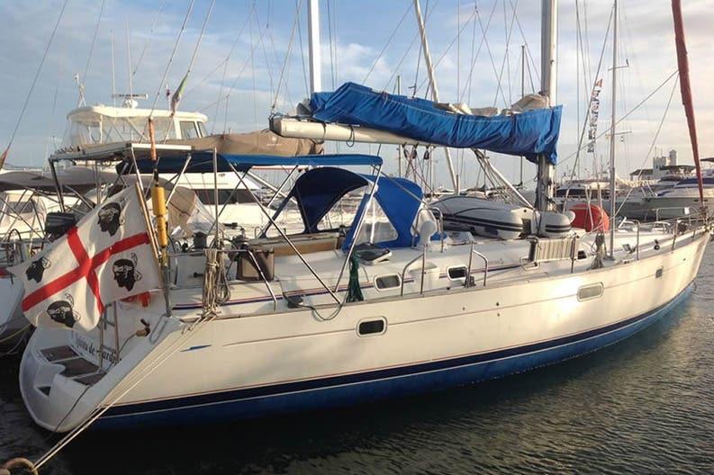 The Beneteau 50 / Spiritu de Sardigna at anchor