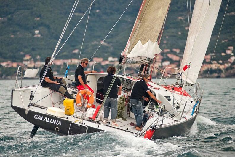 Regatta on board of the Class40 Calaluna