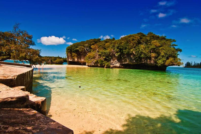 Coast of Ile des Pins in New Caledonia