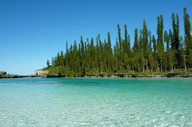 View of the Isle of Pines in New Caledonia