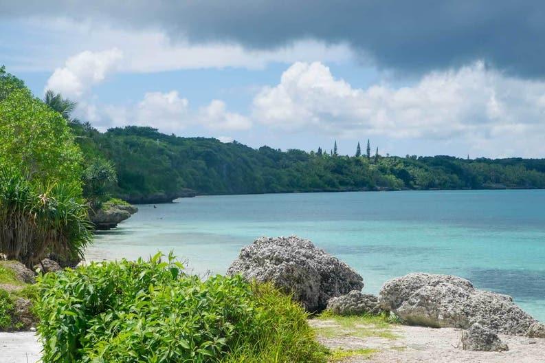Tropical beach near Noumea in New Caledonia