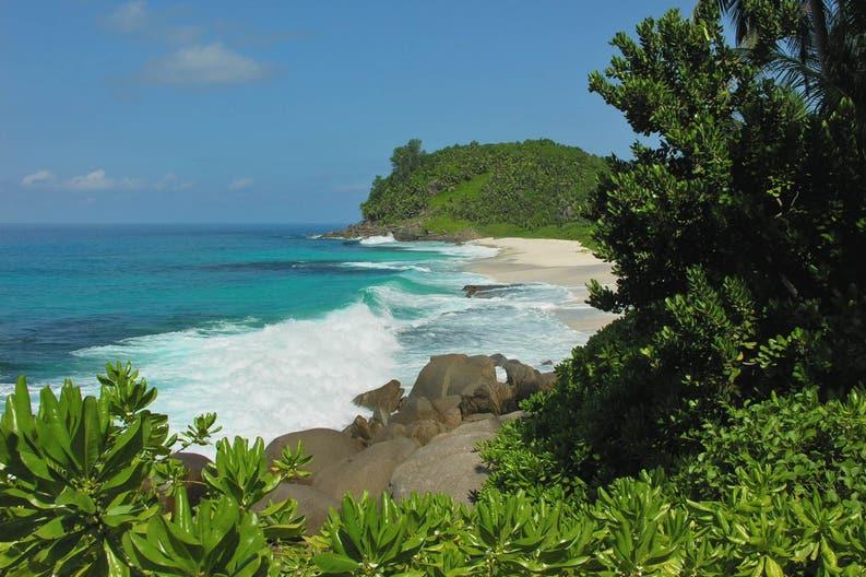 St. Anne's coast at Seychelles