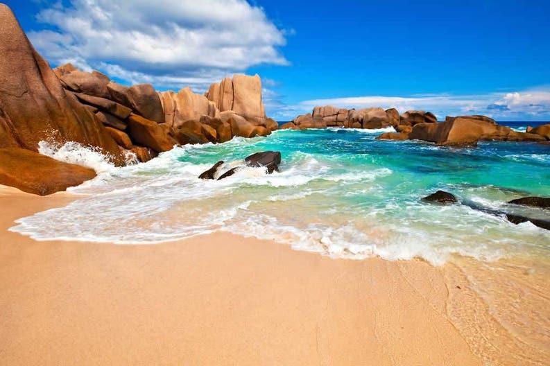 La Digue beach in Seychelles