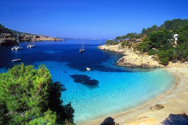 A beach of Ibiza at the Balearic Islands