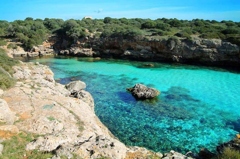 Sea of Balearic Islands in Spain