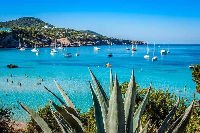Bay in Ibiza in Spain