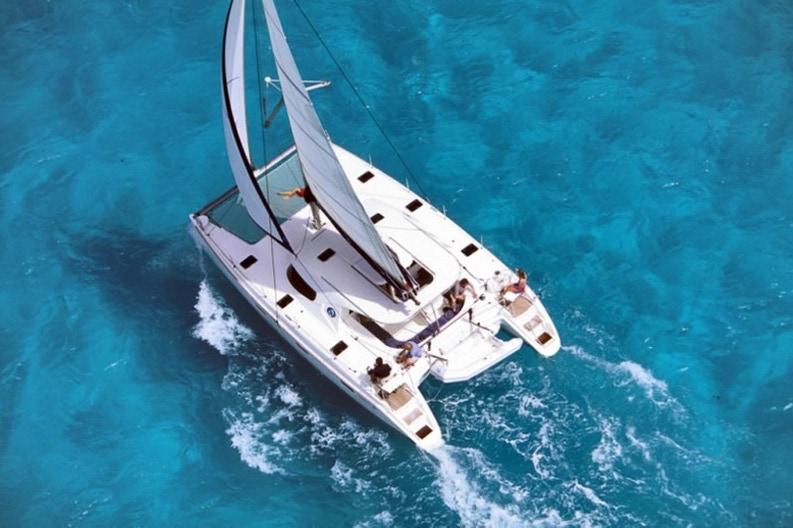View of the catamaran Nautitech 40